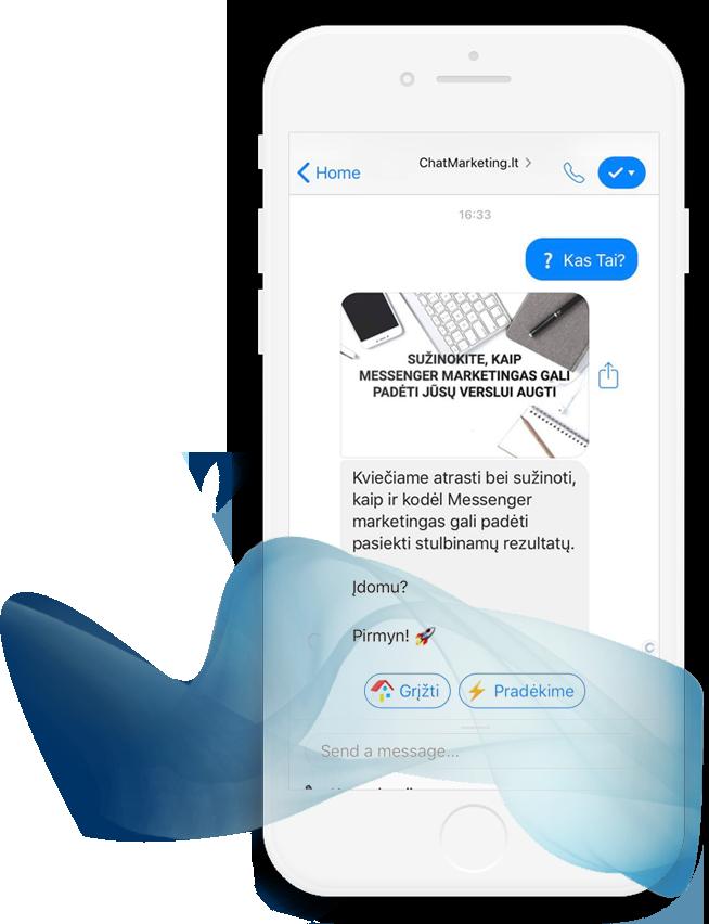 Messenger chatbot marketingas