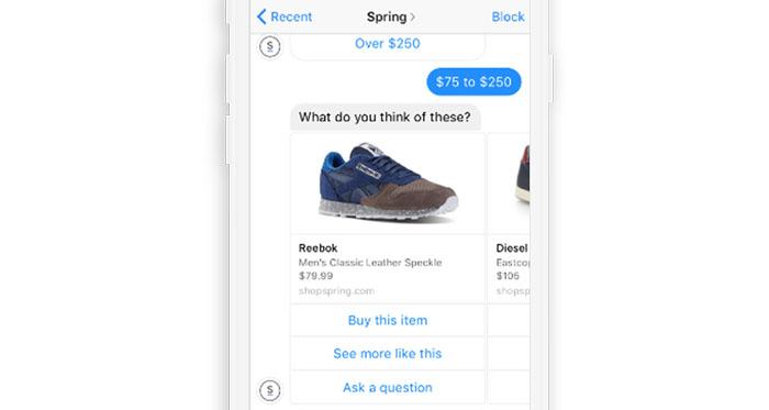 Sales through Messenger